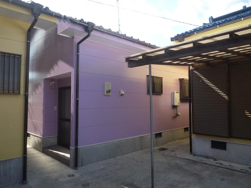外観はカワイイ紫色に塗り替えました(*^_^*)